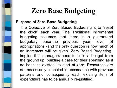 base budgeting
