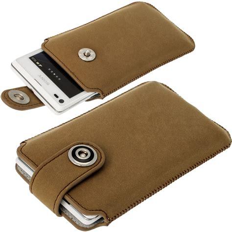 housse pour sony xperia marron etui housse pochette cuir v 233 ritable pour sony xperia l android smartphone ebay