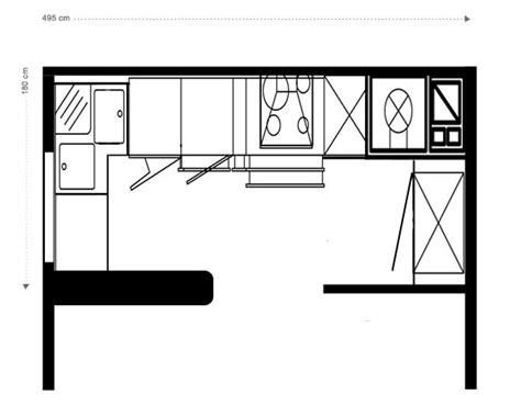 plan cuisine 6m2 design salon gris aubergine aixen provence 1831 salon