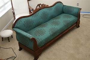 reupholstering my grandmother39s antique sofa keefer madness With recover my furniture