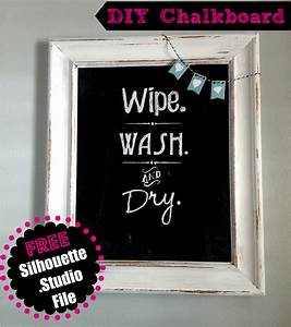 Bathroom Quotes Wall Art or Chalkboard (Free Silhouette