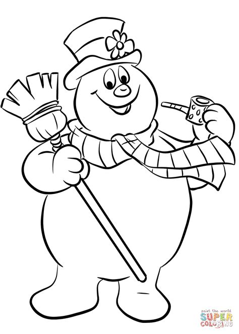 frosty  snowman coloring page  printable coloring