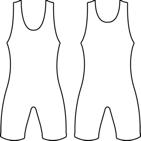 Singlet Design Template by Singlet Free Coloring Pages