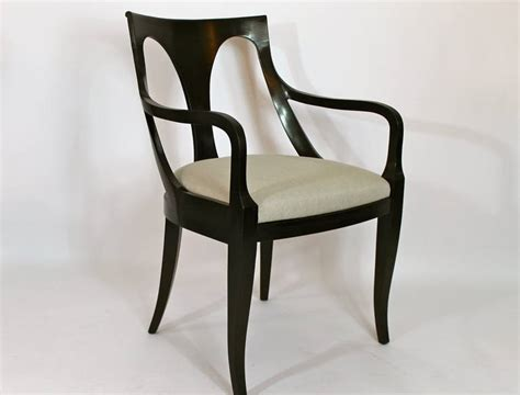 set of six empire style dining chairs by kindel at 1stdibs