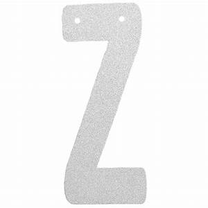 glitter letter banner garland 6inch silver letter z With silver letter banner