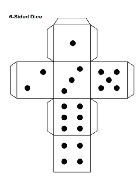 Dice Template Dice Template By Peteslessontoolbox Teaching Resources Tes