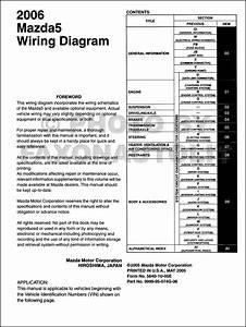 2006 Mazda 5 Wiring Diagram Manual Original