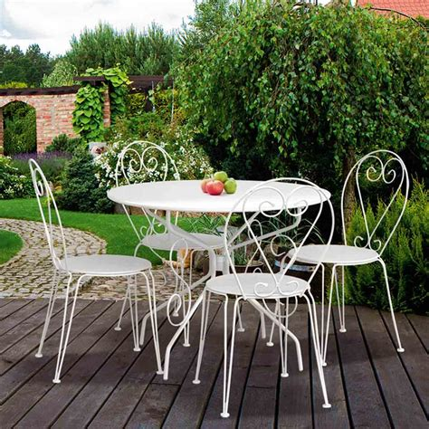 peinture cuisine blanche chaise en métal forgé blanche dya shopping fr