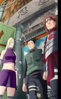 Team 10 Asuma Shikamaru Choji Ino