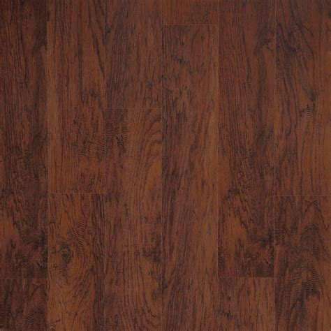 laminate wood flooring hickory trafficmaster dark brown hickory 7 mm thick x 8 1 32 in wide x 47 5 8 in length laminate