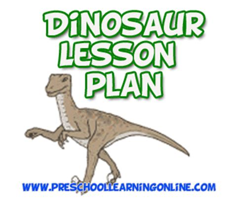 dinosaur lesson plan for preschool learning 327 | dinosaur lesson plan