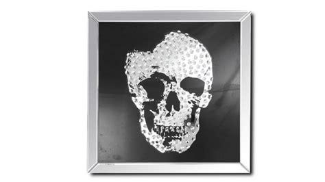pictogramme chambre tableau miroir carré avec tête de mort aratika mobilier moss