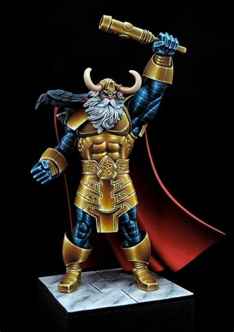 odin king  asgard  jeanmarc brisset puttypaint
