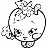 Coloring Pages Lipstick Shopkins Lips Printable Getcolorings sketch template