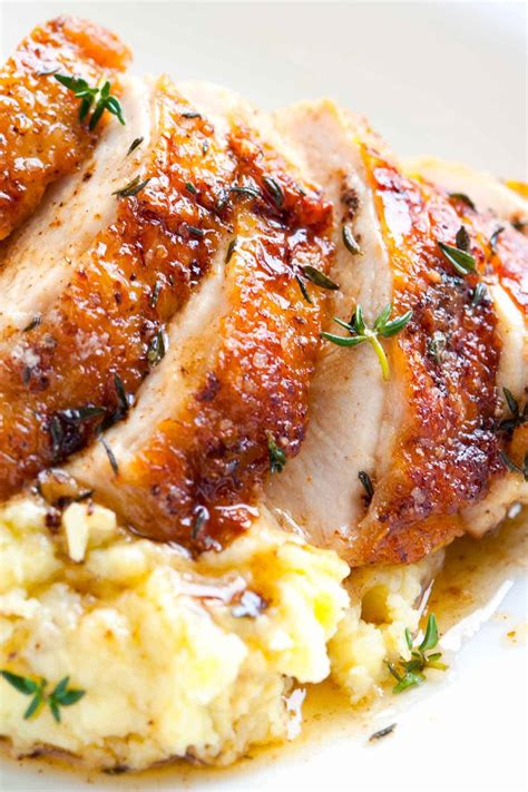 easy pan roasted chicken breasts  thyme