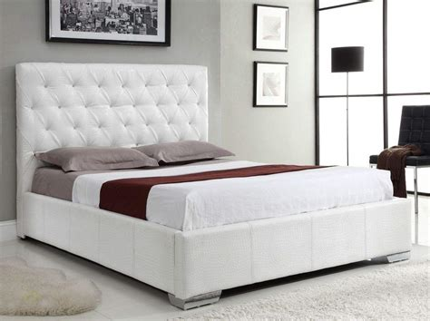 Platform Beds : Exclusive Leather High End Platform Bed With Extra Storage