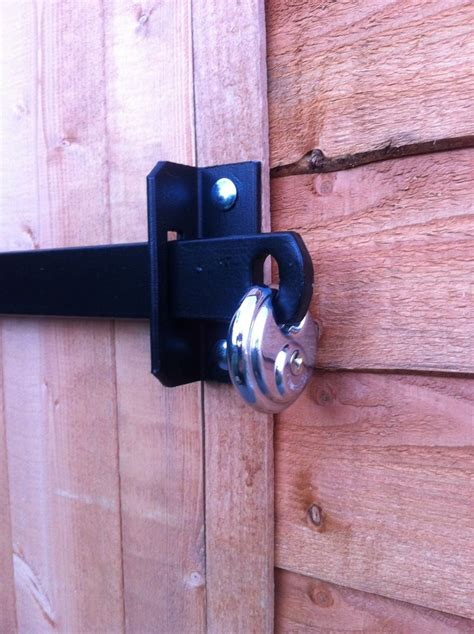 door bar lock metal shed lock bar stable garage office door