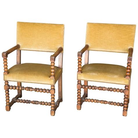pair of 19th century walnut bobbin chairs for sale at 1stdibs