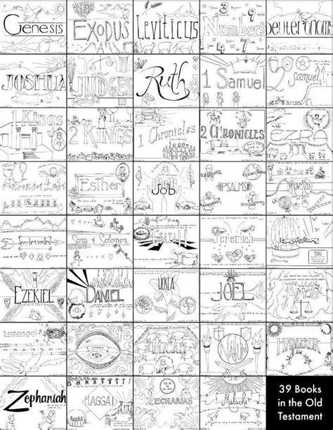 """39 Books Of The Old Testament"" Bible Coloring Pages  Homeschool Bible  Pinterest  The Old"