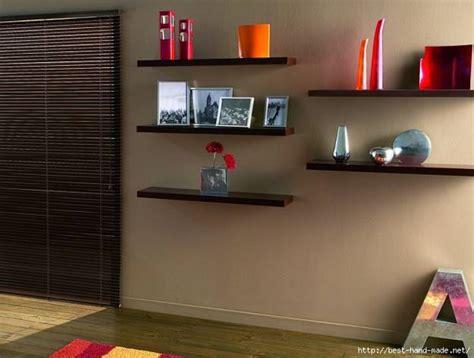 creative  modern interior decorating  open wall shelves