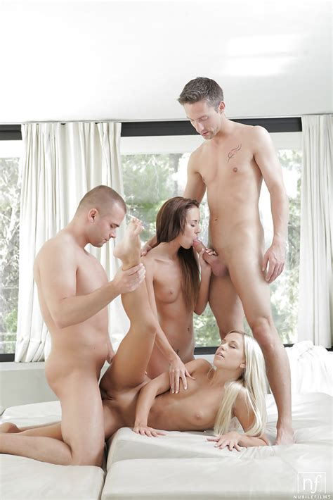 Lots Of Oral Sex In Teen Foursome With Dido Angel And Gina Devine