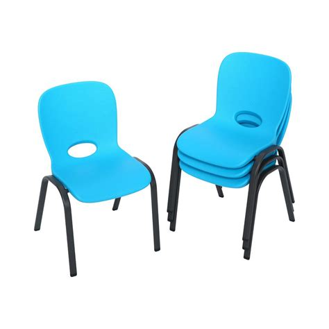 lifetime blue stacking chair set of 4 80472 the