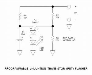Programmable Unijunction Transistor  Put  Flasher Circuit