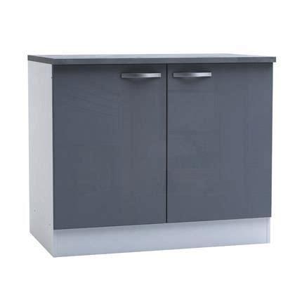 meubles de cuisine bas meuble bas de cuisine 2 portes 100cm coloris achat