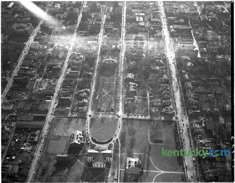 aerial view  gratz park  kentucky photo archive