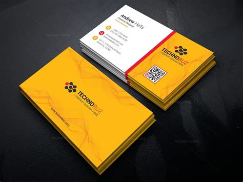 yellow elegant business card template  template