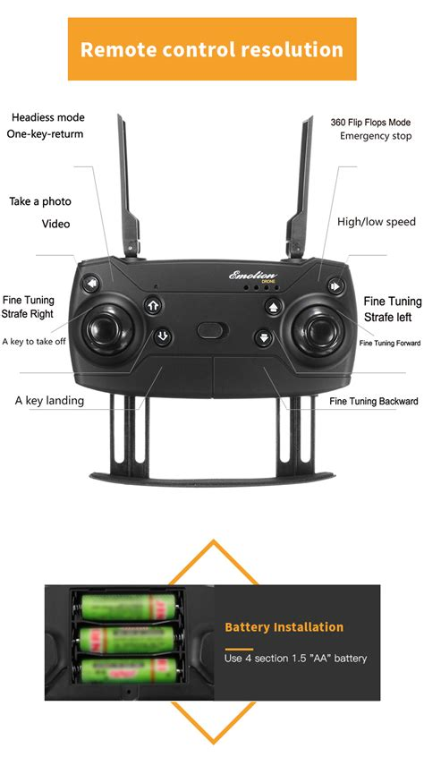 eachine  wifi fpv  mp wide angle camera high hold mode foldable rc drone quadcopter rtf