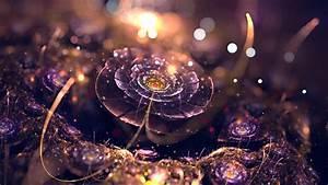 Fractal, Abstract, Digital, Art, Bokeh, Purple, Fractal, Flowers, Lights, Depth, Of, Field