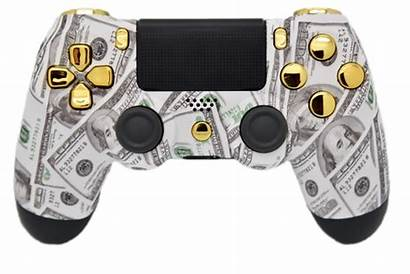 Money Ps4 Controller Gold Side