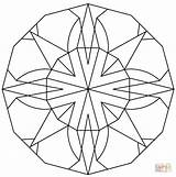 Coloring Kaleidoscope Adults Minecraft Onlycoloringpages Printable Popular Library Coloringdoo sketch template