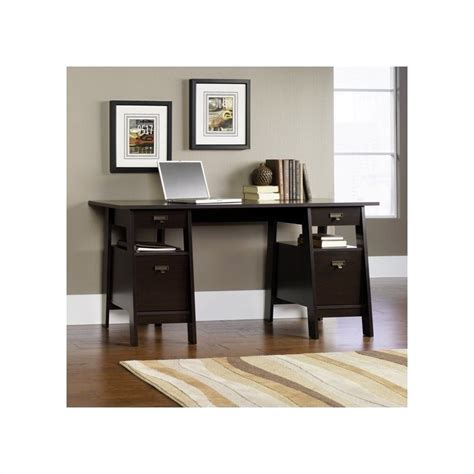 Sauder Executive Desk Jamocha by Features