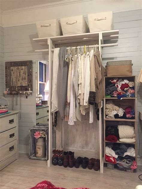 hometalk free standing closet made with an door
