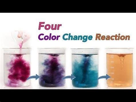 color change chemical reaction colour change chameleon chemical reaction
