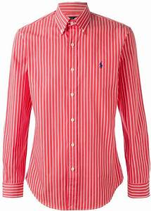 White and Red Vertical Striped Dress Shirt: Polo Ralph ...