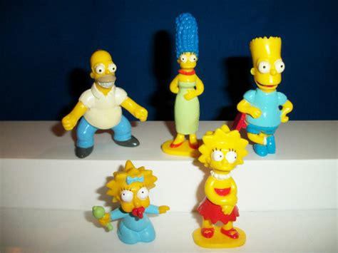 Simpsons Family Set 5 Panini Figures French Plastic