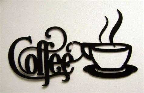 14 x 7 bistro coffee sign with mug metal wall