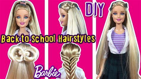 back to school hairstyles of barbie doll diy barbie hair