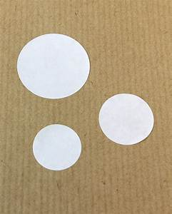round self adhesive labels With circular self adhesive labels