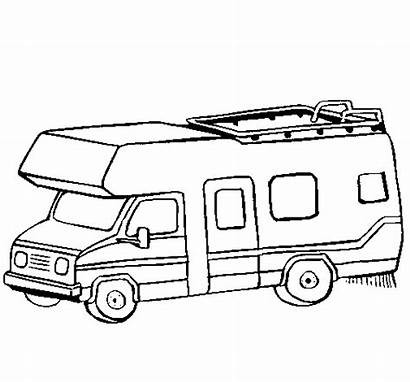 Caravan Coloring Camping Camper Pages Colouring Rv
