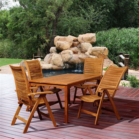 amazonia teak patio furniture amazonia jackson 5 teak rectangular patio dining set