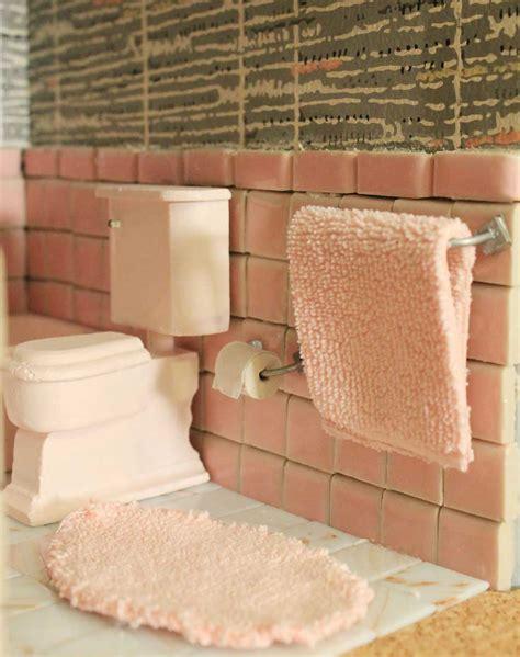 mosaic tile ideas for bathroom a vintage pink bathroom for the dollhouse including