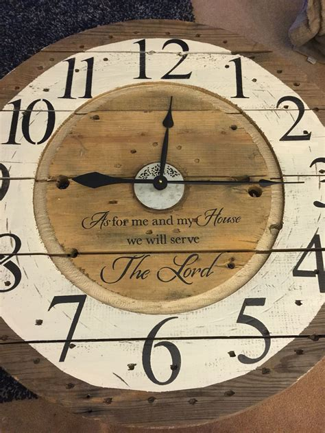 Spool Clocks For Sale Custom Orders Create Your Own