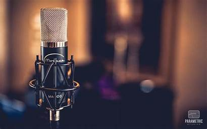 Microphone Wallpapers Studio Audio Tube Condenser Backgrounds