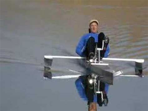 Man Powered Hydrofoil Boat by Pedal Boat Lake Test Youtube