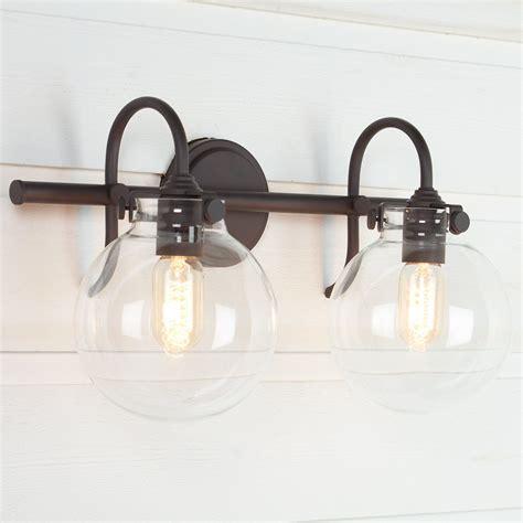 Retro Bathroom Fixtures by Retro Glass Globe Bath Light 2 Light Grandpops
