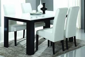 Petite Table à Manger : table de salle manger design laqu e noire et blanche dali buffet bahut soldes salle ~ Preciouscoupons.com Idées de Décoration